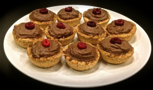 healthy chocolate mousse tarts