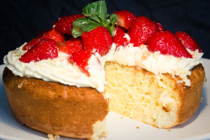 Lemon, Basil and Olive Oil Cake