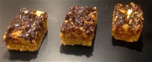 Nut Caramel and Chocolate Slice