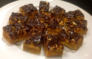Nut Caramel and Chocolate Slice
