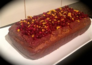 Pomegranate Orange Ginger and Cardamom Cake