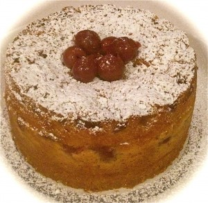 Cherry and Custard Cake recipe