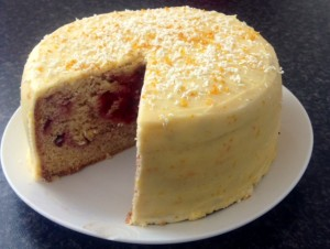 Rhubarb Orange and Ginger Cake recipe