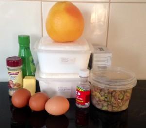 Grapefruit Pistachio Rose and Ginger Syrup Cake recipe