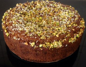 Grapefruit Pistachio Rose and Ginger Syrup Cake recipe
