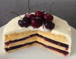 Cherry Trifle Cake recipe