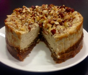 Fig Hazelnut and Coffee Cheesecake recipe