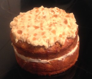 Spiced Pumpkin Cake with Maple Icing
