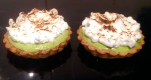 Lemon Avocado Meringue Pies recipe