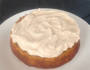 Spiced Pumpkin Cake with Maple Icing recipe