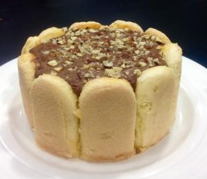 Frangelico and Nutella Charlotte Cake recipe