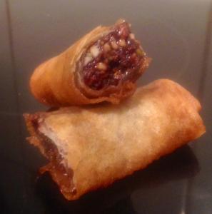 Chocolate and Nut Springroll recipe