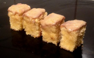 Glazed Grapefruit Sponge Slice recipe