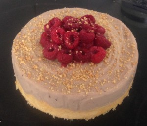 Peanut and Raspberry Ricotta Cheesecake recipe