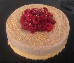 Peanut and Raspberry Ricotta Cheesecake recipe