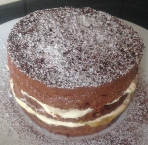 Chocolate and Orange Marmalade Sponge recipe