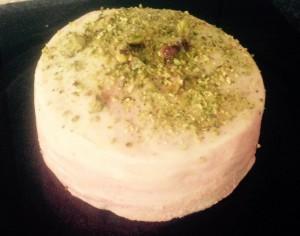 Rose Raspberry and Pistachio Cake recipe