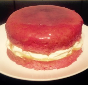 Strawberry Nesquik and Lime Daiquiri Sponge Cake recipe