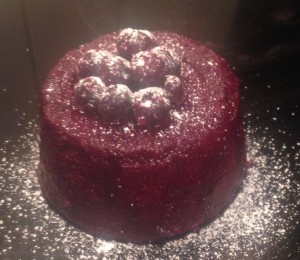 Blueberry Cardamom Sponge Pudding recipe