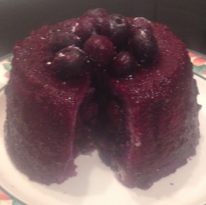 Blueberry Cardamom Sponge Pudding recipe