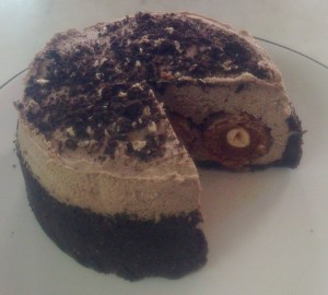 Ferrero Oreo and Frangelico Chocolate Cheesecake recipe