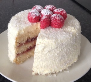 Rum Coconut and Raspberry Cake Recipe