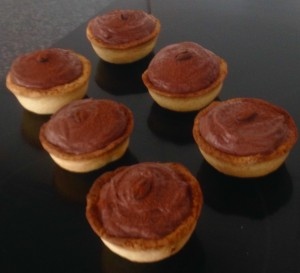 Cocoa Ricotta Mousse Tarts recipe