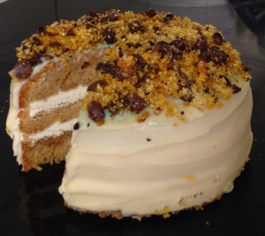 Kahlua and Butterscotch schnapps Cake