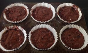 Low Fat Dark Chocolate Balsamic and Almond Cupcakes