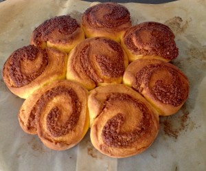 Pumpkin Vanilla and Cinnamon Scrolls recipe