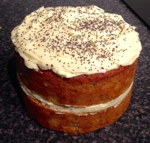 Zucchini Polenta Orange and Poppy Seed Cake recipe