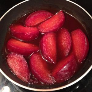 Yoghurt Plum and Port Cheesecake recipe