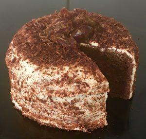 Banana Yoghurt Mocha Date Cake recipe