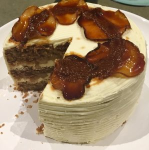 Spiced Caramel Apple Pie Cake recipe