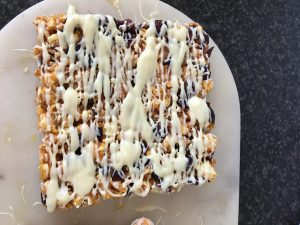 Festive Popcorn Honey Bark recipe