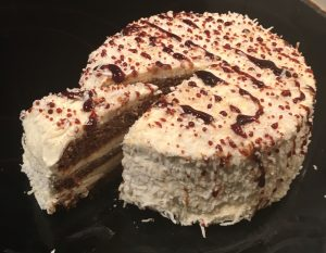 Jamaican Black Gingerbread Frosted Cake