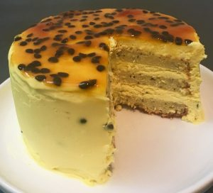 Passionfruit Orange Blossom Vanilla Cake
