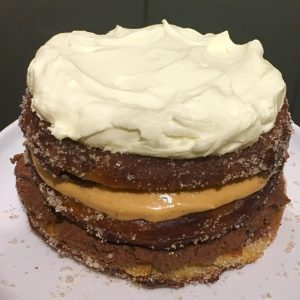 Churros Chocolate Caramel Cake recipe