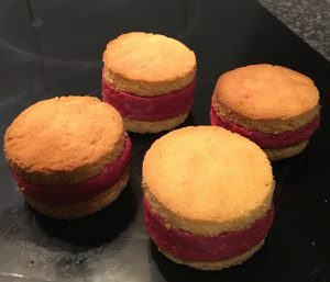 Banana Berry Lemon Ice-Cream Sandwich recipe