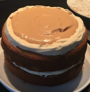 Spiced Sweet Potato Bourbon and Caramel Cake recipe