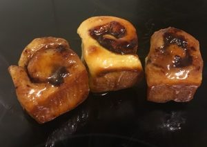 Sticky Chocolate and Bourbon Scrolls recipe