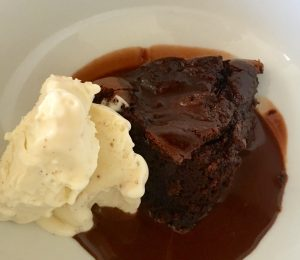Chocolate Ricotta Cheese Pudding with Ricotta Ice-Cream recipe