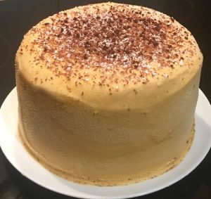 Mocha Ginger and Caramel Layer Cake