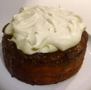 Upside-Down Golden Caramelised Fig and Port Cake