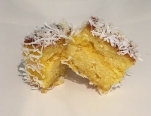 Mandarin and Curd Lamington recipe