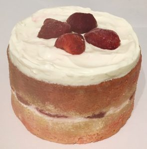 Strawberry Jelly Soaked Vanilla Cake recipe