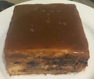 Marshmallow Peanut Caramel and Chocolate Bread Pudding recipe