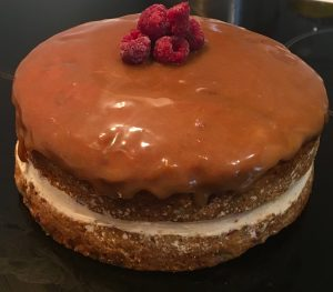Apple Raspberry Cider Caramel Candy Cake