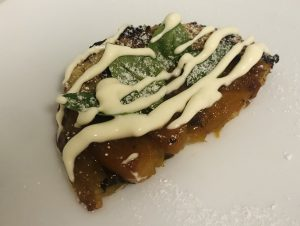 Peach and Basil Tarte Tatin