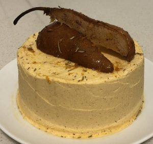 Thyme Orange and Poached Pear Cake recipe